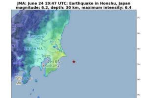 突发!日本发生6.2级地震、东京震感强烈 美国加州也发生了5.8级地震
