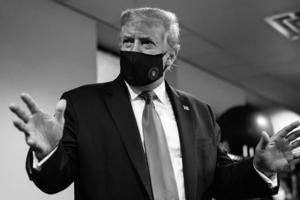"""395万!川普首次高调支撑戴口罩并再提""""中国病毒"""" 白宫新冠疫情简报会将重启"""