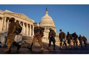 拜登就任前华盛顿国民警卫队人数将增至2万!五角大楼开始着手调查军队中的极端主义