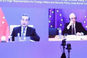中欧局势!欧盟首席外交官提醒中国外长欧美关系牢固 中国外交部新闻稿对此只字未提